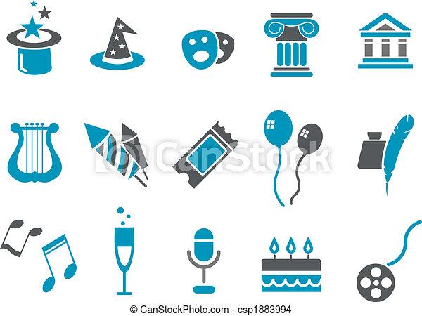 komplet, ikona, rozrywka - csp1883994