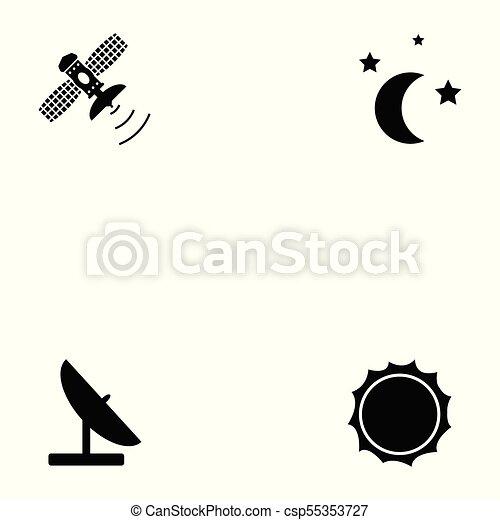 komplet, przestrzeń, ikona - csp55353727