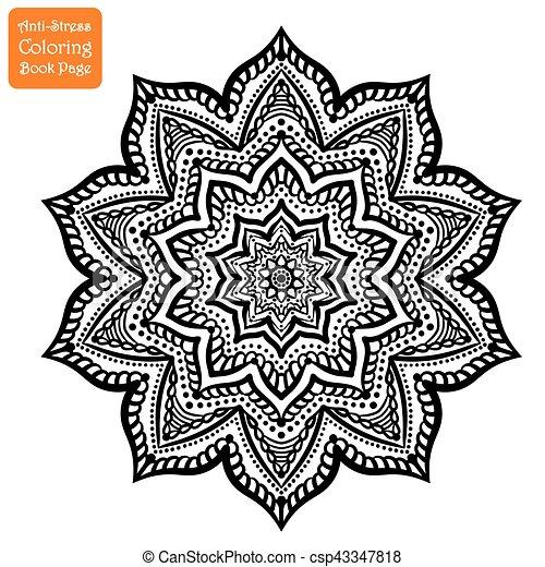 Kompliziert gezeichnet mandala hand page dekorativ plakat design logo meditation - Mandala garcon ...