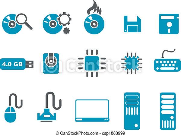 komputerowa ikona, komplet - csp1883999