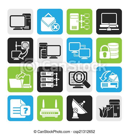 komputerowa sieć, ikony - csp21312652