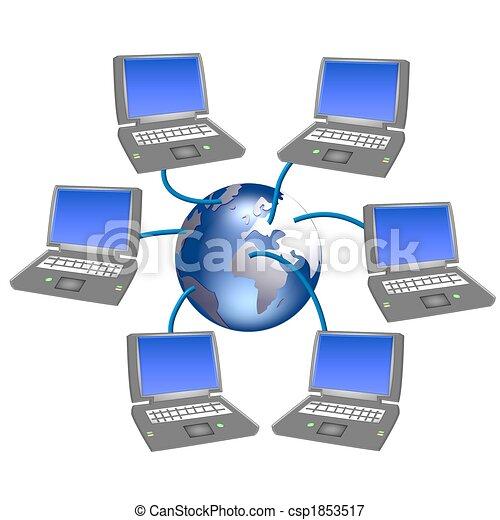 komputerowa sieć - csp1853517