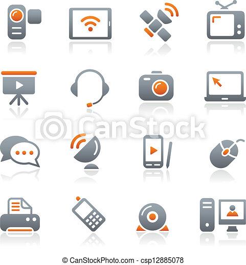 //, komunikacja, grafit, ikony - csp12885078