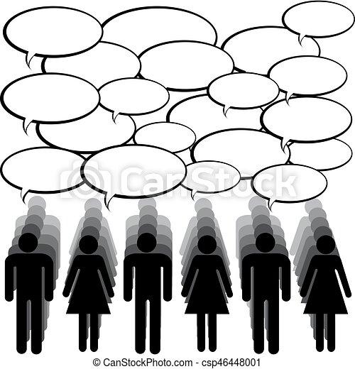 komunikacja, pojęcie, ludzie, chating - csp46448001