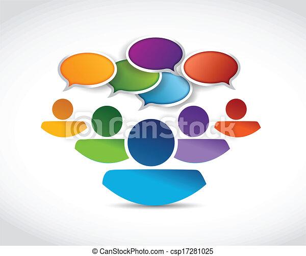 komunikacja, wiadomość, bańki, ludzie - csp17281025