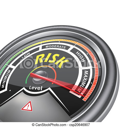 konceptualny, indykator, wektor, ryzyko, metr - csp20646907