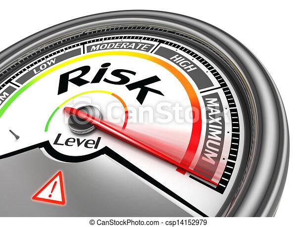 konceptualny, ryzyko, metr, poziom - csp14152979