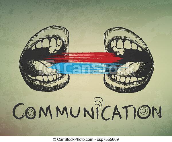 konceptualny, tło., abstrakcyjny, komunikacja - csp7555609