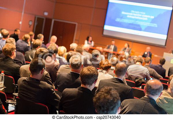 konferencja, hall., audiencja - csp20743040