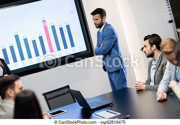 konferencja, obraz, spotkanie pokój, handlowy - csp52816475