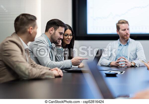 konferencja, obraz, spotkanie pokój, handlowy - csp52816424