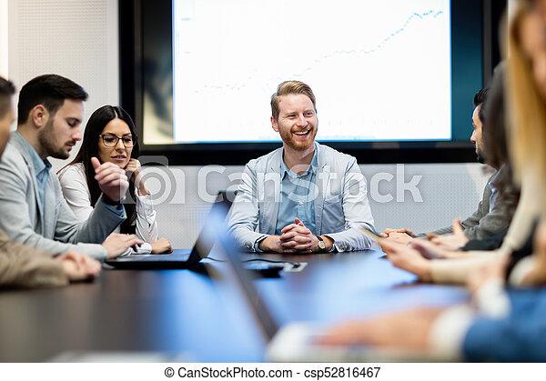 konferencja, obraz, spotkanie pokój, handlowy - csp52816467