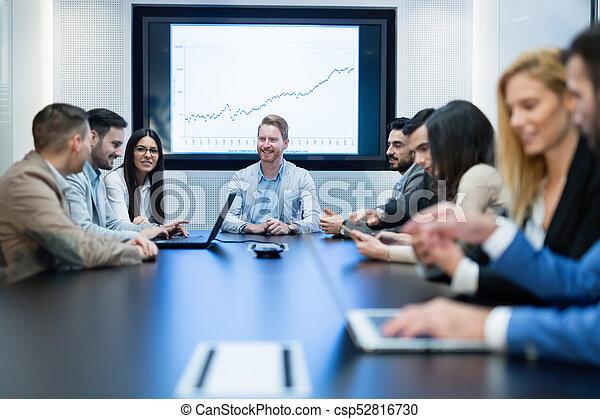 konferencja, obraz, spotkanie pokój, handlowy - csp52816730