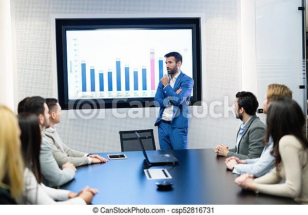 konferencja, obraz, spotkanie pokój, handlowy - csp52816731