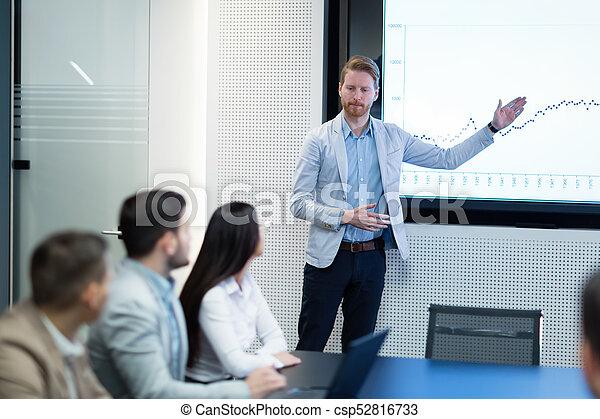 konferencja, obraz, spotkanie pokój, handlowy - csp52816733
