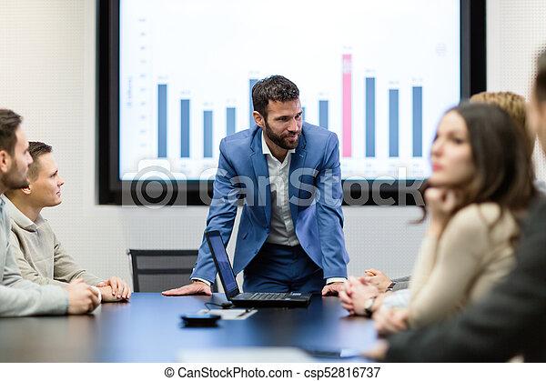 konferencja, obraz, spotkanie pokój, handlowy - csp52816737