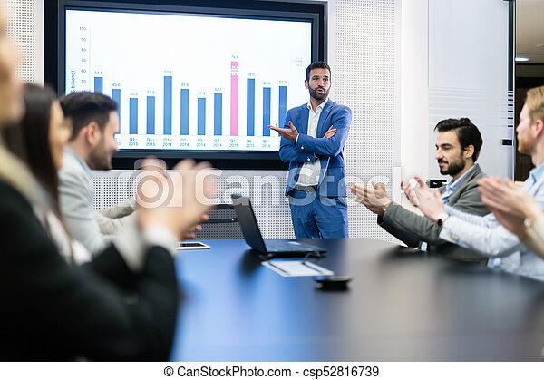 konferencja, obraz, spotkanie pokój, handlowy - csp52816739