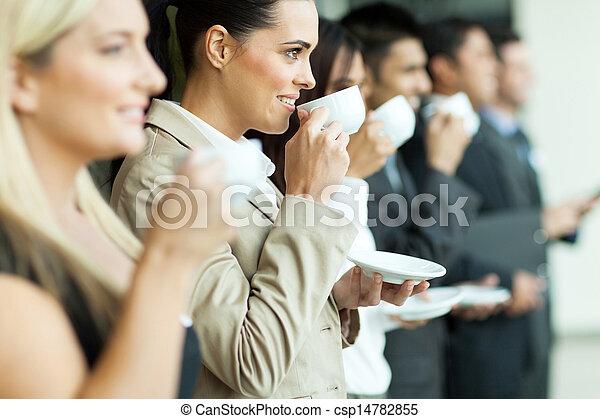 konferencja, złamanie, kawa, handlowy - csp14782855