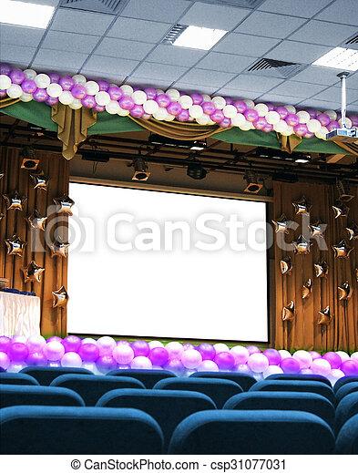 konferencyjna sala, świąteczny - csp31077031