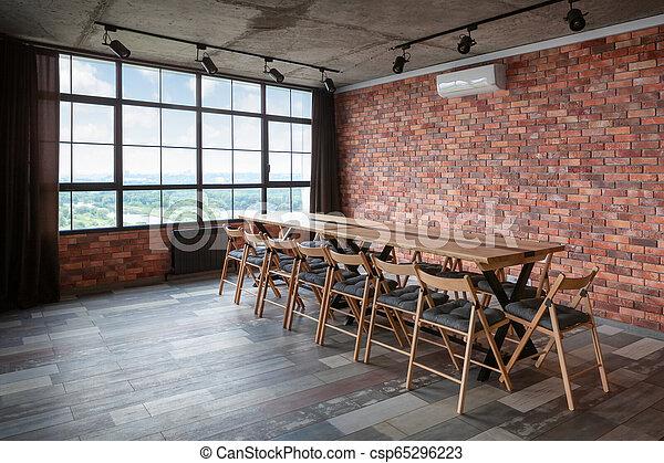 Modernes Interieur Design des Konferenzraums. - csp65296223