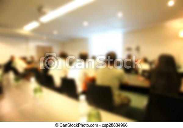 konferenz, verwischt, heraus, zimmer, fokus - csp28834966