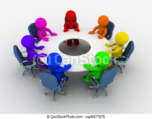 konferenztisch - csp8477675