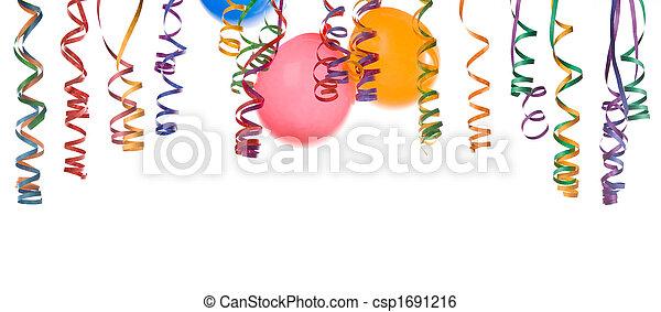 konfetti, léggömb - csp1691216