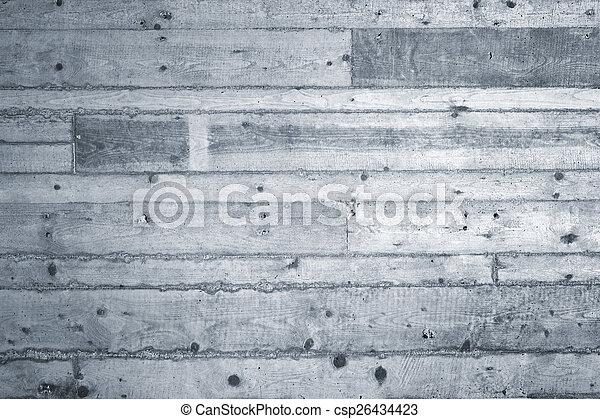 konkret, spår, planka, bakgrund - csp26434423