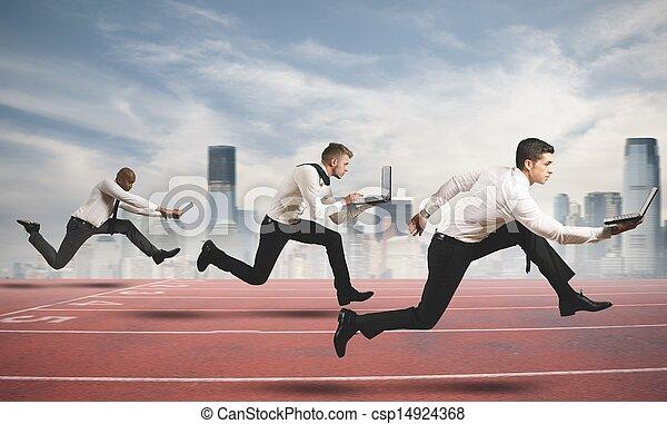 Wettbewerb im Geschäft - csp14924368