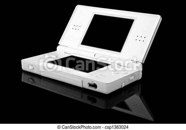 konsole, tragbar, -, spiele, schwarz, rgeöffnete - csp1363024