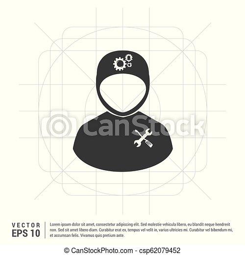 konstruál, ikon - csp62079452