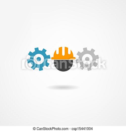 konstruál, ikon - csp15441004