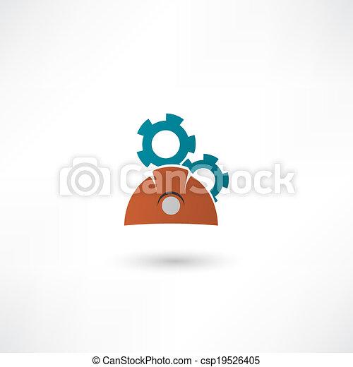 konstruál, ikon - csp19526405