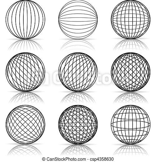Graficke Pozadi Konstrukce Koule Neposkvrneny Ilustrace