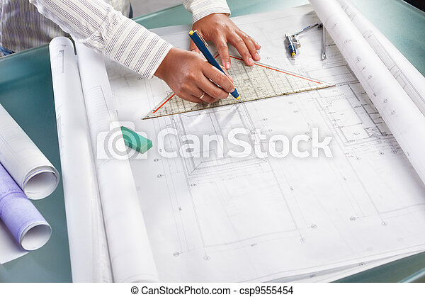 konstruktion, arkitektur, arbejder - csp9555454