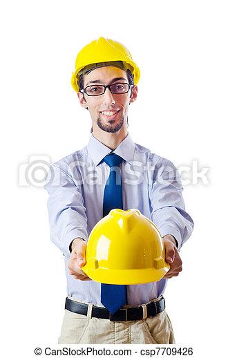 konstruktion, byggmästare, begrepp, säkerhet - csp7709426