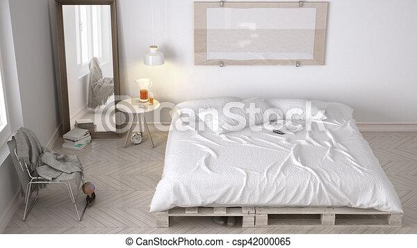Konstruktion, eco, nordisk, soveværelse, diy., chic, hvid stock ...