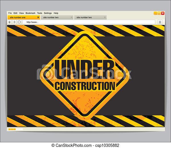 konstruktion site, skabelon, under - csp10305882