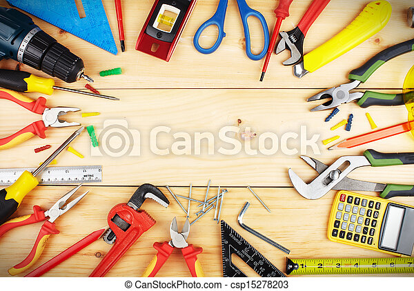 konstruktion, tools. - csp15278203