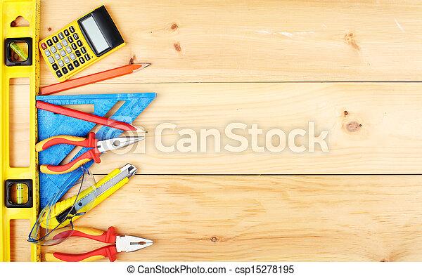 konstruktion, tools. - csp15278195