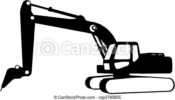 konstruktion, (vector), køretøjene - csp3795855