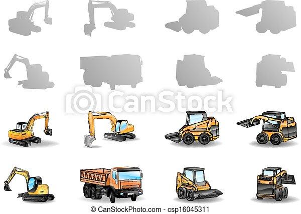 konstruktionsfahrzeuge - csp16045311