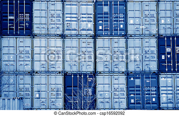 konténer, hajózás - csp16592092
