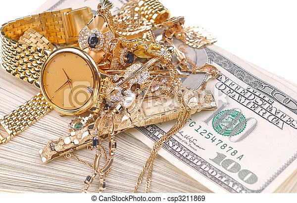 kontanter, guld - csp3211869