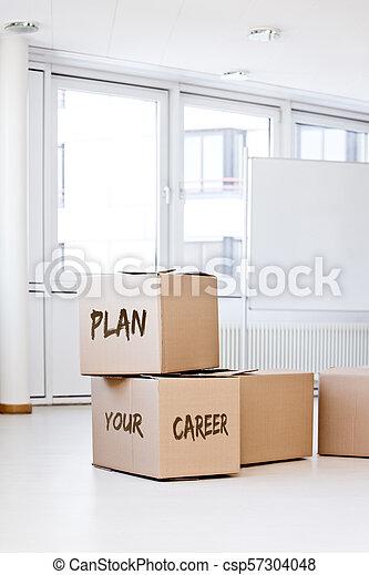 kontor, rutor, gripande, lott, vit, tom - csp57304048