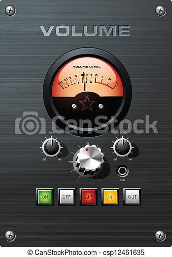 kontrola síly zvuku, indikátor, vu, analogový - csp12461635