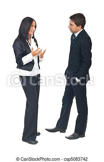 konversation, affärsfolk - csp5083742