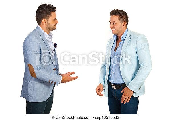 konversation, ha, affärsman - csp16515533