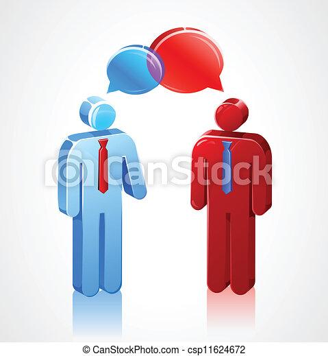 konversation, käpp, affärsverksamhet ikon - csp11624672