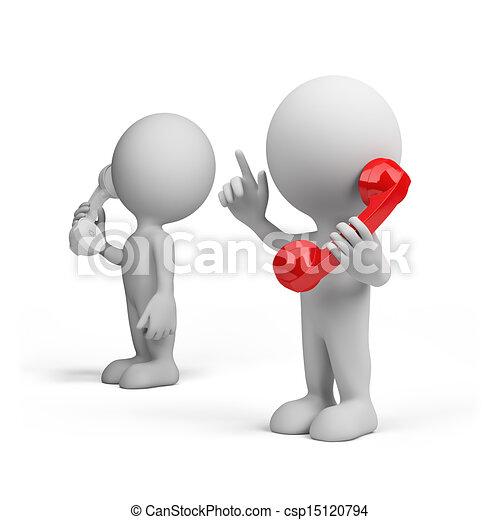 konversation, telefon - csp15120794